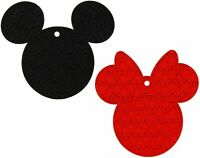 Disney Mickey and Minnie Mouse 100% Silicone Trivets, 2 pack New