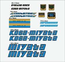 KOGA MIYATA SUPER WINNER FRAME DECAL SET