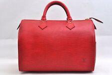 Authentic Louis Vuitton Epi Speedy 30 Hand Bag Red LV 99733