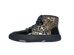 Michael Kors Side Zip Cheetah High Top Brown Shoes Women's (Size: 5)