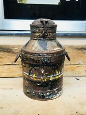 Vintage Old Iron Hand Forged Beautiful Milk Water Oil Pot Container