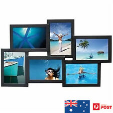UNIGIFT 6 IN 1 WOODEN COLLAGE PHOTO FRAME BLACK- XMAS GIFT NEW