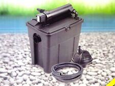 Bio Teich Mehrkammerfilter Set 8000 UVC Voklärgerät Teichfilter + Pumpe 2500 l/h