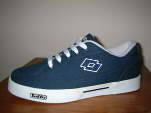 MENS LOTTO NAVY BLUE/WHITE TEXTILE TRAINERS SIZE 8/42