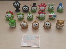 CUT THE ROPE NOMMIES SERIES - LOT of 16 w gold miniature collcetible figures+BPZ