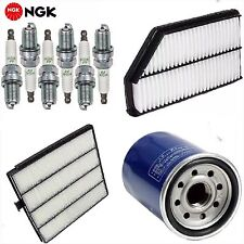 Tune Up Kit Cabin Air Oil Filters Spark Plugs for 2001-2002-2003-2004 Acura MDX