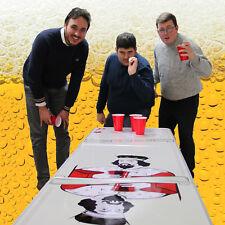 Tavolo da Beer Pong 2,4m Piegabile Superficie MDF Impermeabile in Alluminio