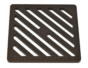 "150mm 15cm 6"" Square Antique copper drain cover gully grid grate powder coat"