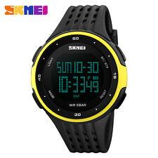 SKMEI Men Womens LED Sport Quartz Analog Digital Waterproof Military Wrist Watch Rose Gold【skmei】
