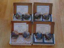 "Bradford Editions Thomas Kinkade ""Enchanted Seasons"" Collection w/Cert 4 Set Lot"