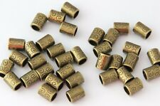 20 PC golden dreadlock dread tube cuff beads 6mm hole