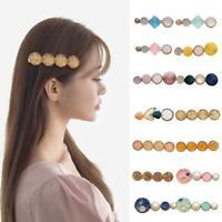 Frauen Metallzweig Perle Pflaumenblüte Haarnadel Pin Haarspange Haardekor