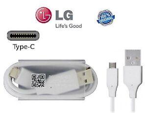 CABLE CHARGEUR USB VERS USB TYPE-C 3.1 CORDON DE CHARGEMENT BLANC ORIGINAL LG G5