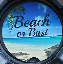 Beach or Bust Ceramic Car Coaster - Set of Two
