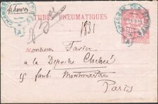FRANCE, 1894. Pneumatic Post Envelope H&G B3, Used