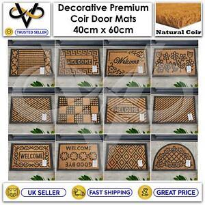 Coir Door Mat Welcome Modern Mats Natural Coir Non-Slip Indoor/Outdoor