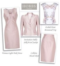 """BEAUTIFUL SHELL PINK """"VIENNA"""" DRESS SUIT FROM HOBBS UK12 RRP £400.00 *new*!!"""