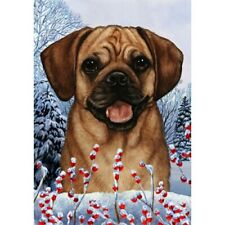 Winter House Flag - Fawn Puggle 15123