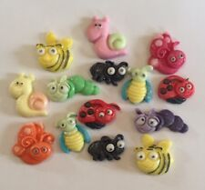 12 EDIBLE SUGARPASTE ICING CUTE BUGS BIRTHDAY CAKE TOPPERS