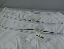 Jockey Men's Classic Boxer Short Brief 3 Pack White