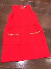 Girl's EGG red dress with 2 front pockets, size 5 - Worn Once