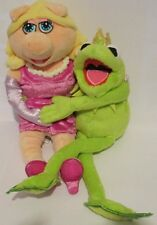 Muppets Kermit & Miss Piggy Lovers Wrapped Around Each other Stuffed Plush Toys