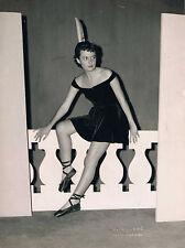PHOTO BALLERINE PRINT VINTAGE  circa 1950 STUDIO D.ROUSSE PARIS-BIARRITZ