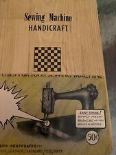Sewing Machine Handicraft Book Patterns Adv. Card Bright Bit Craft Co. PA 1940