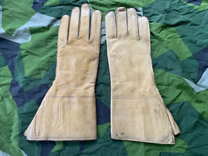 NOS Vintage British Army WD Marked Dispatch Riders Gloves DR Gauntlets Leather 9
