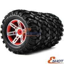 4pcs RC 1.9'' Rock Crawler Tires 90mm & Metal 1.9'' Beadlock Rims Wheel Hex 12mm
