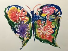"CHARLES BLACKMAN ""Flower Butterfly"" Limited Edition Silkscreen 56cm x 76cm"