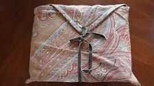 """New In Bag Pottery Barn Paisley Cotton Linen Tablecloth 70"""" X 108"""" Brown"""
