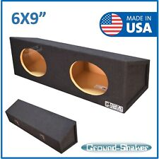 "6X9"" Dual Sealed Speaker box Sub box Subwoofer Enclosure Ground Shaker"