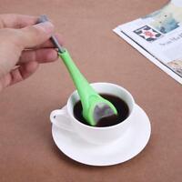 Tea Maker Silicone Coffee Strainer Tea Leaf Filter Swirl Stir Press Infuser