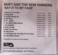Huey and the New Yorkers - Say It To My Face Promo Album (CD 2012)Collectable CD
