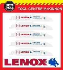 "5 x LENOX 6"" 6066R DEMOLITION NAIL EMBEDDED WOOD RECIPROCATING / SABRE SAW BLADE"