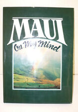 Hawaii MAUI  On My Mind Large Hard Cover Book Beautiful Pictures and Scenery