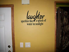 Laughter sparkles like sulight vinyl wall decal sticker