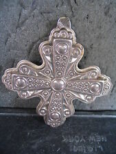 Reed & Barton  Sterling Ornament 1972 CHRISTMAS CROSS