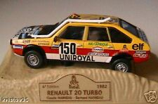 RENAULT 20 TURBO #150 FRERES MARREAU RALLYE PARIS DAKAR 1982 1/43 NOREV M6