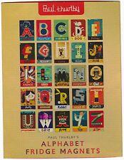 Set of 75 Paul Thurlby Illustrated Retro ALPHABET Fridge Refrigerator Magnets