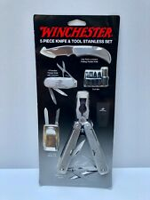Winchester 5 piece knife and tools Stainless Steel set never opened