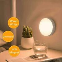 Magnetic Dimmable LED Night Light Touch Switch Home Cupboard Bedside Lamp USB