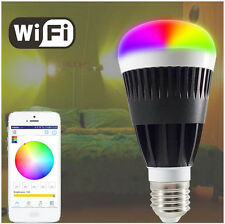 LED Bulb Lamp smart phone wifi bluetooth control dimming Colorful RGB 10W Power