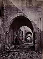 Gerusalemme Israele Palestina Foto Albumina Stampa Verso 1890 Piccolo Din