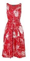 BNWT Phase Eight /8 Yoko Print Dress, Chilli/White Size 16