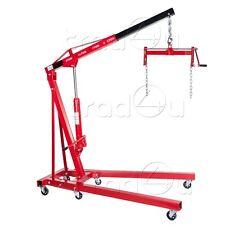 2 Ton Hydraulic Folding Engine Crane Hoist Lift Stand With 450kg Load Leveller