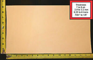 """16"""" x 9"""" Vegetable Tanned Cowhide 7 to 8 oz. Tooling Leather Piece, 1st. Qlty"""