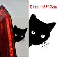 1x Cute Cat Face Peeking Car Styling Sticker For Auto Windshied Door Vinyl Decal