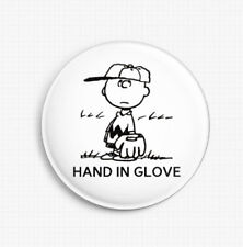 THE SMITHS CHARLIE BROWN SNOOPY ''HAND IN GLOVE'' BUTTON PIN BADGE
